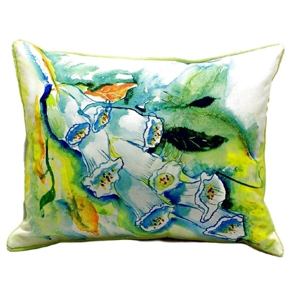 Foxgloves Small Indoor/ Outdoor Throw Pillow