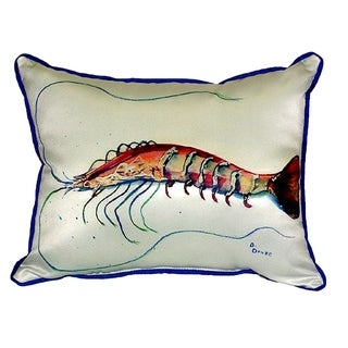 Betsy's Shrimp Small Indoor/ Outdoor Throw Pillow