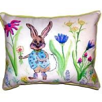 Happy Bunny Small Indoor/ Outdoor Throw Pillow