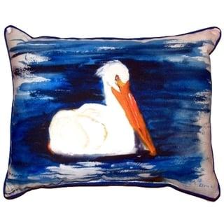 Spring Creek Pelican Small Indoor/ Outdoor Throw Pillow