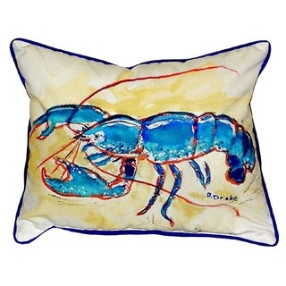 Blue Lobster Small Indoor/ Outdoor Throw Pillow