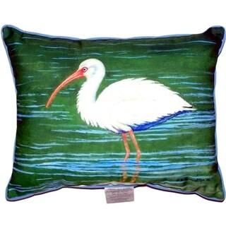 Dick's White Ibis Small Indoor/ Outdoor Throw Pillow