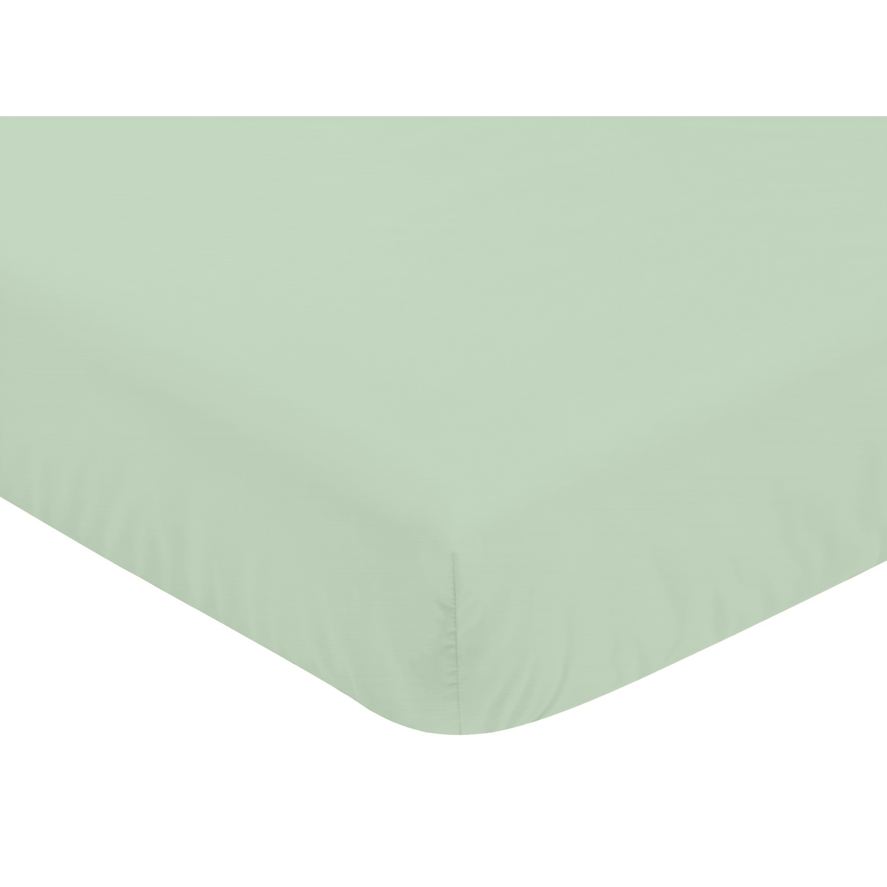 JoJo Designs Coral and Mint Mod Arrow Collection Mint Fitted Crib Sheet (Mint), Green (Microfiber, Solid Color)
