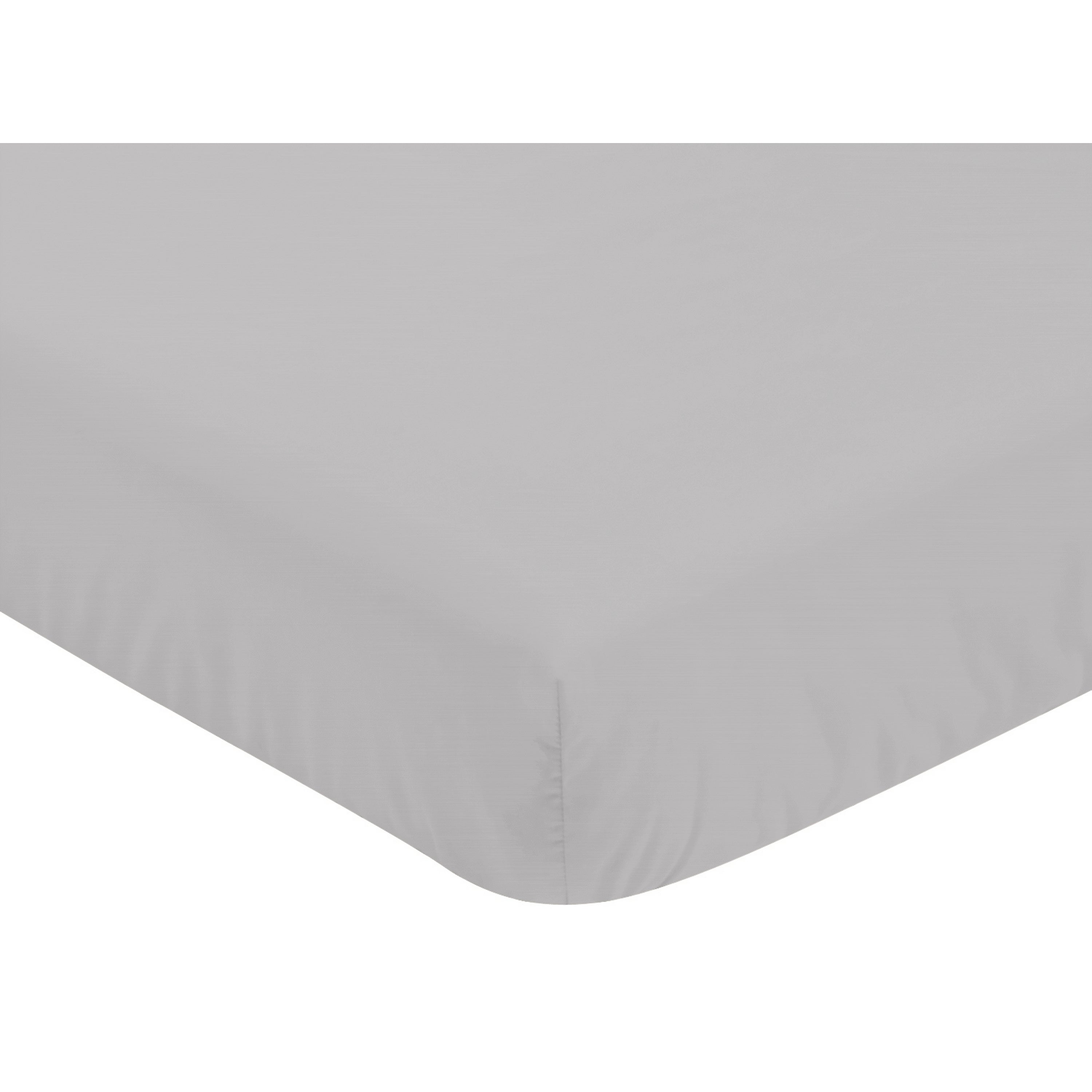 JoJo Designs Fitted Crib Sheet for Grey, Coral and Mint Woodland Arrow Baby/Toddler Bedding Set Collection - Grey