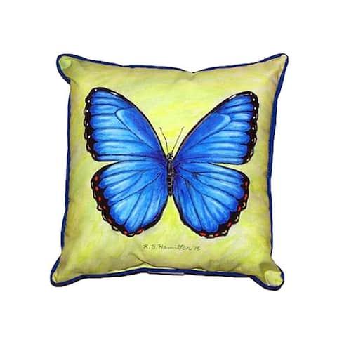Dick's Blue Morpho Small Indoor/ Outdoor Throw Pillow