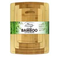 Heim Concept 3 Piece Organic Bamboo Premium Cutting Board