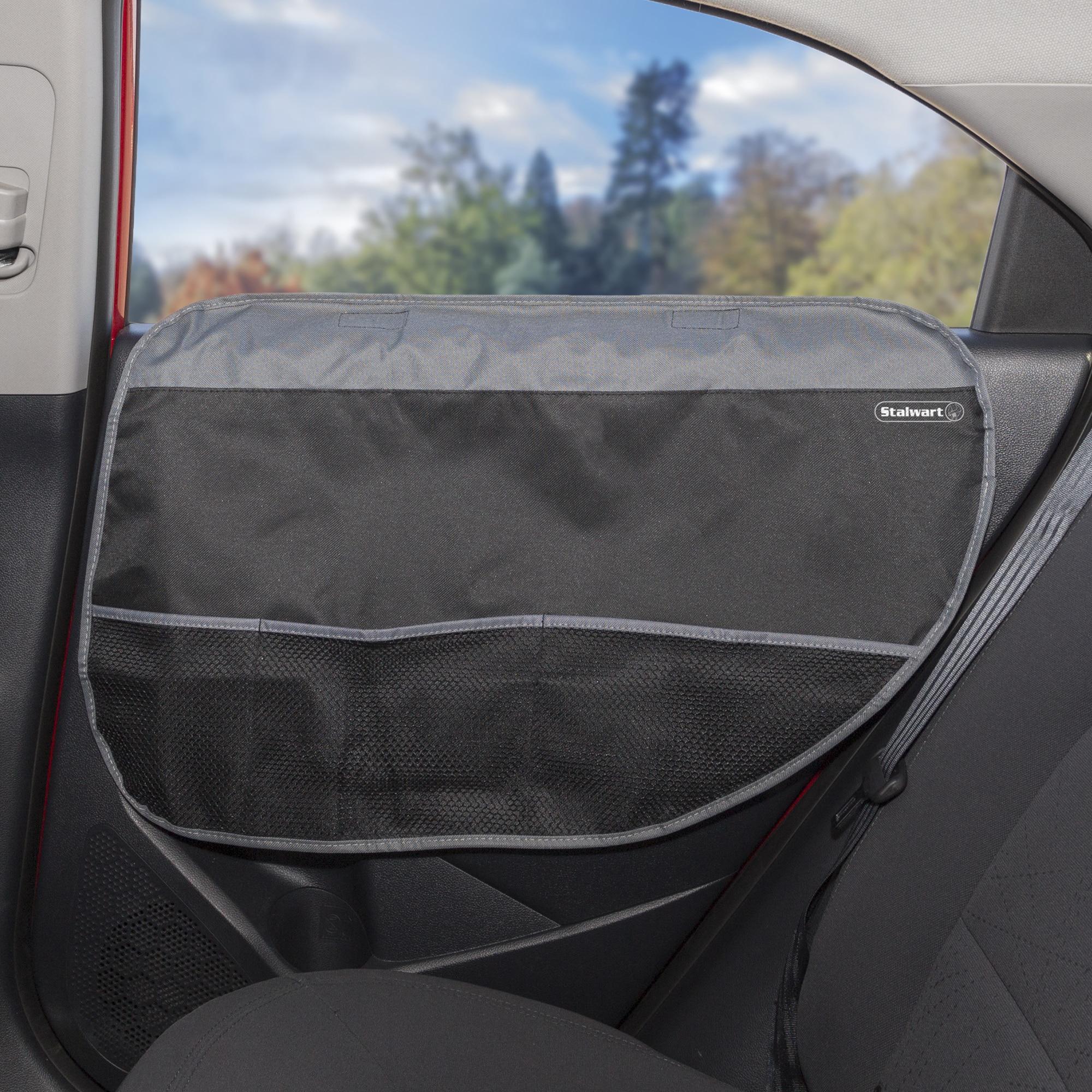 Stalwart Pet Auto Door Protector Shield Set (2 Pack-Black...