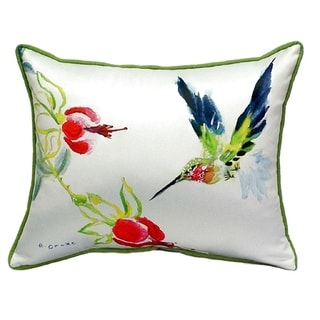 Betsy's Hummingbird Small Indoor/ Outdoor Throw Pillow
