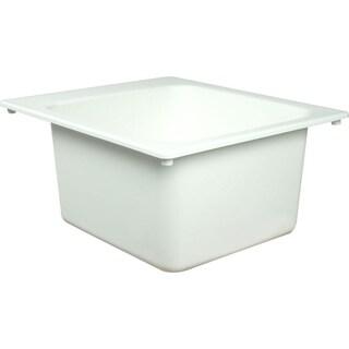 Fiat White Molded Stone Utility Sink