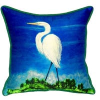 Great Egret Small Indoor/ Outdoor Throw Pillow