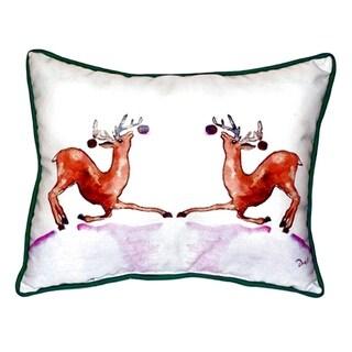 Dancing Deer Small Indoor/ Outdoor Throw Pillow