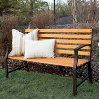 Outdoor Steel Park Bench