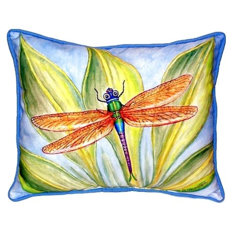 Dick's Dragonfly Small Indoor/ Outdoor Throw Pillow