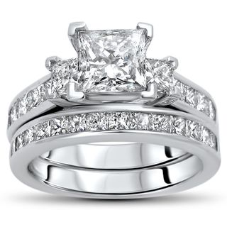 Noori Certified 14k Gold 2 1/2ct TDW Princess-cut Diamond Bridal Set - White|https://ak1.ostkcdn.com/images/products/14604997/P21148651.jpg?_ostk_perf_=percv&impolicy=medium