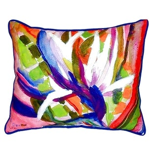 Betsy's Bird of Paradise Small Indoor/ Outdoor Throw Pillow