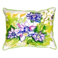 Clematis Small Indoor/ Outdoor Throw Pillow