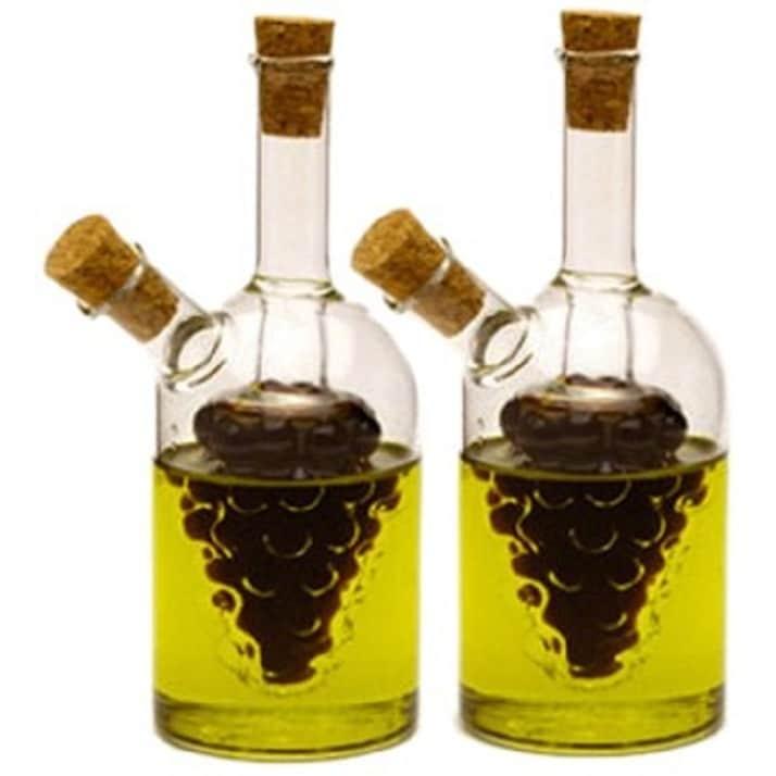 Norpro 792 2-Piece Oil and Vinegar Cruets (Clear) (Glass)