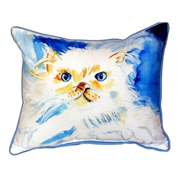Junior the Cat Small Indoor/ Outdoor Throw Pillow