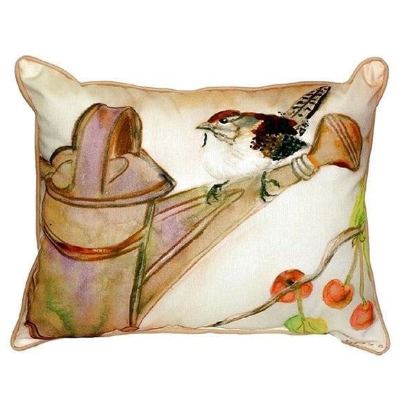 Carolina Wren Small Indoor/ Outdoor Throw Pillow