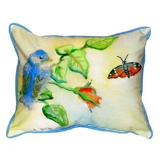 Blue Bird Small Indoor/ Outdoor Throw Pillow