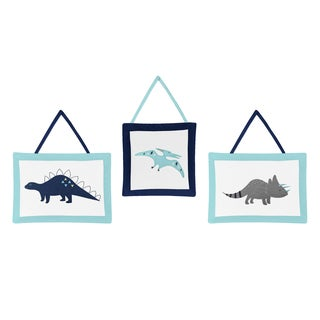 Sweet Jojo Designs Wall Hangings for the Blue and Green Mod Dinosaur Collection 3-piece Set