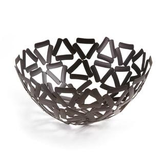 "Elegance Black Round Basket, 11"""
