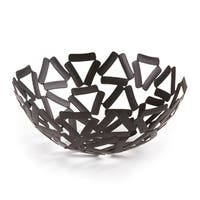 "Elegance Black Round Basket, 9.5"""