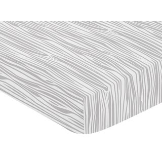 Sweet Jojo Designs Coral and Mint Woodsy Collection Wood Grain Print Fitted Crib Sheet