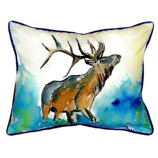 Elk Small Indoor/ Outdoor Throw Pillow