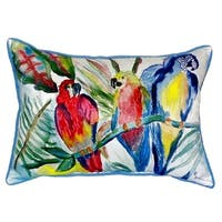 Parrot Family Small Indoor/ Outdoor Throw Pillow