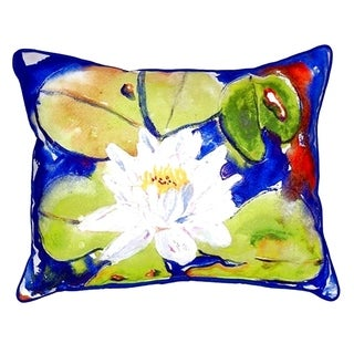 Lily Pad Flower Small Indoor/ Outdoor Throw Pillow