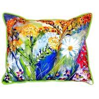 Wild Flower Small Indoor/ Outdoor Throw Pillow