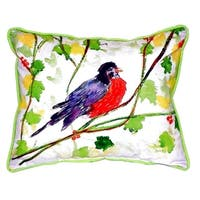 Robin Small Indoor/ Outdoor Throw Pillow