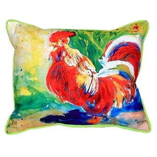 Red Rooster Small Indoor/ Outdoor Throw Pillow