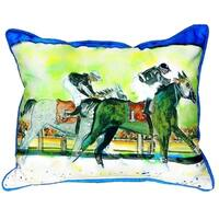 Close Race Small Indoor/ Outdoor Throw Pillow