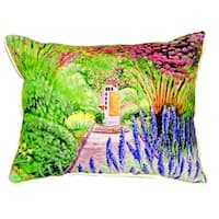 Garden Door Small Indoor/ Outdoor Throw Pillow