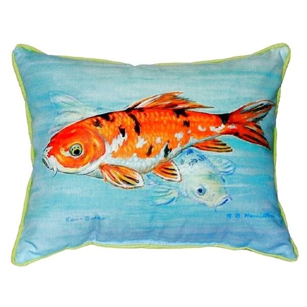 Koi Small Indoor/ Outdoor Throw Pillow