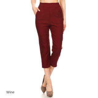 Women's Solid Straight Capri Pants
