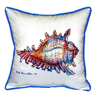 Conch Small Indoor/ Outdoor Throw Pillow