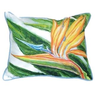 Bird of Paradise Small Indoor/ Outdoor Throw Pillow