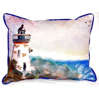 Light House Small Indoor/ Outdoor Throw Pillow
