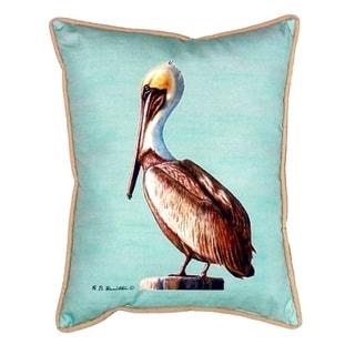 Pelican - Teal Small Indoor/ Outdoor Throw Pillow