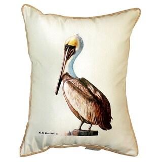 Pelican Small Indoor/ Outdoor Throw Pillow