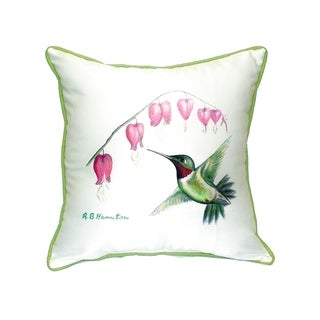 Hummingbird Small Indoor/ Outdoor Throw Pillow