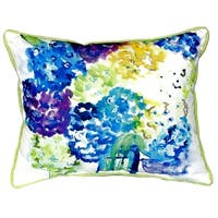 Betsy's Hydrangea Small Indoor/ Outdoor Throw Pillow
