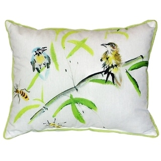Birds and Bees I Small Indoor/ Outdoor Throw Pillow