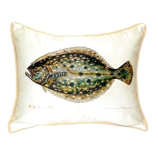 Flounder Small Indoor/ Outdoor Throw Pillow