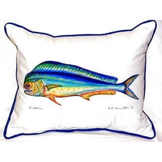 Dolphin Small Indoor/ Outdoor Throw Pillow