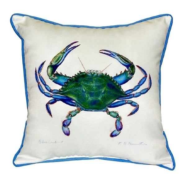 Blue Crab - Male Small Indoor/ Outdoor Throw Pillow