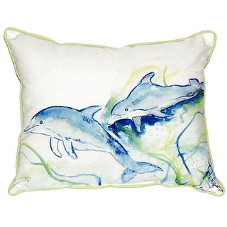 Betsy's Dolphins Small Indoor/ Outdoor Throw Pillow